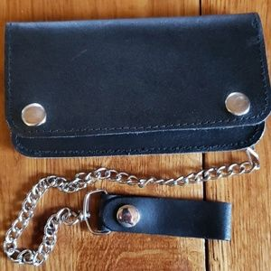 """6.5"""" Leather Biker Wallet with Chain"""